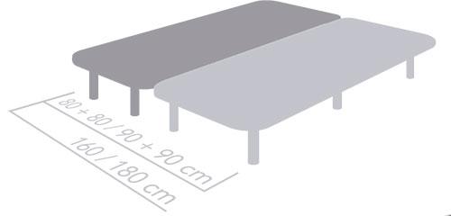 Base tapizada serie 3D Medidas bases dobles